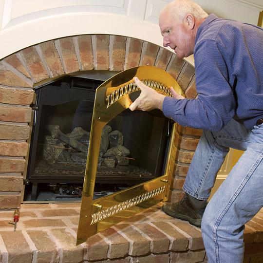 Installation des cheminees